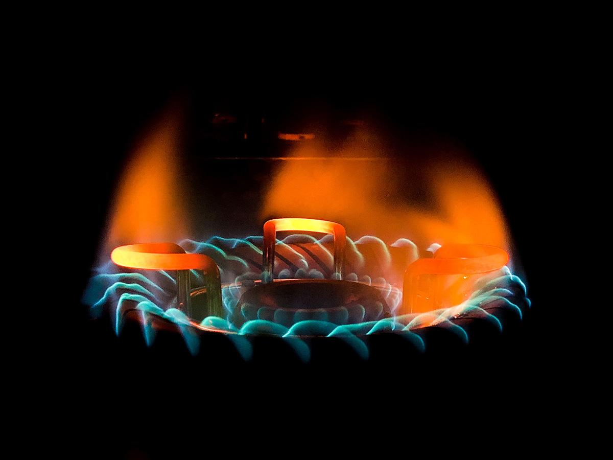 gaz metan, aragaz, flacara